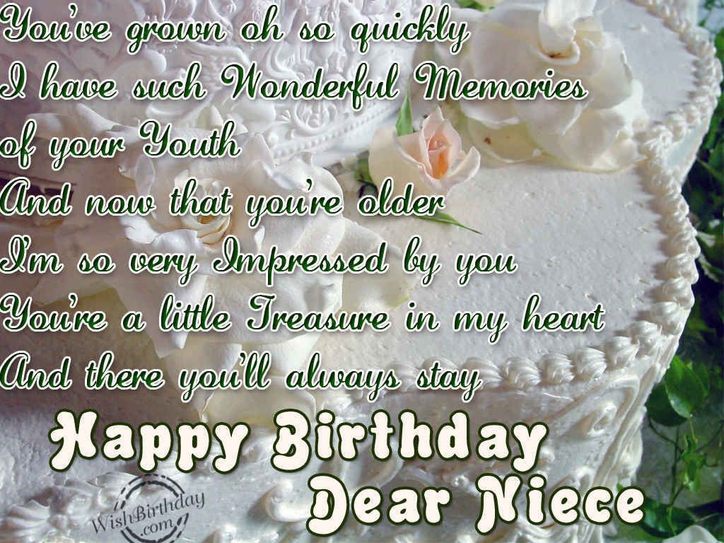 If Happy Birthday Niece Poems Is A Nice Poems You Can Share These Poems Images To Your Social