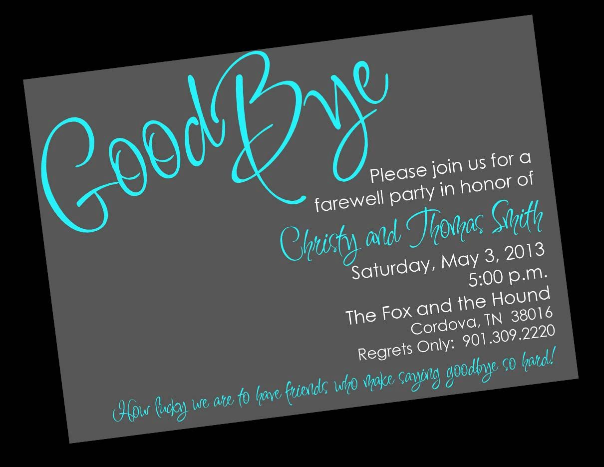 Free Printable Invitation Templates Going Away Party – Goodbye Party Invitation Wording