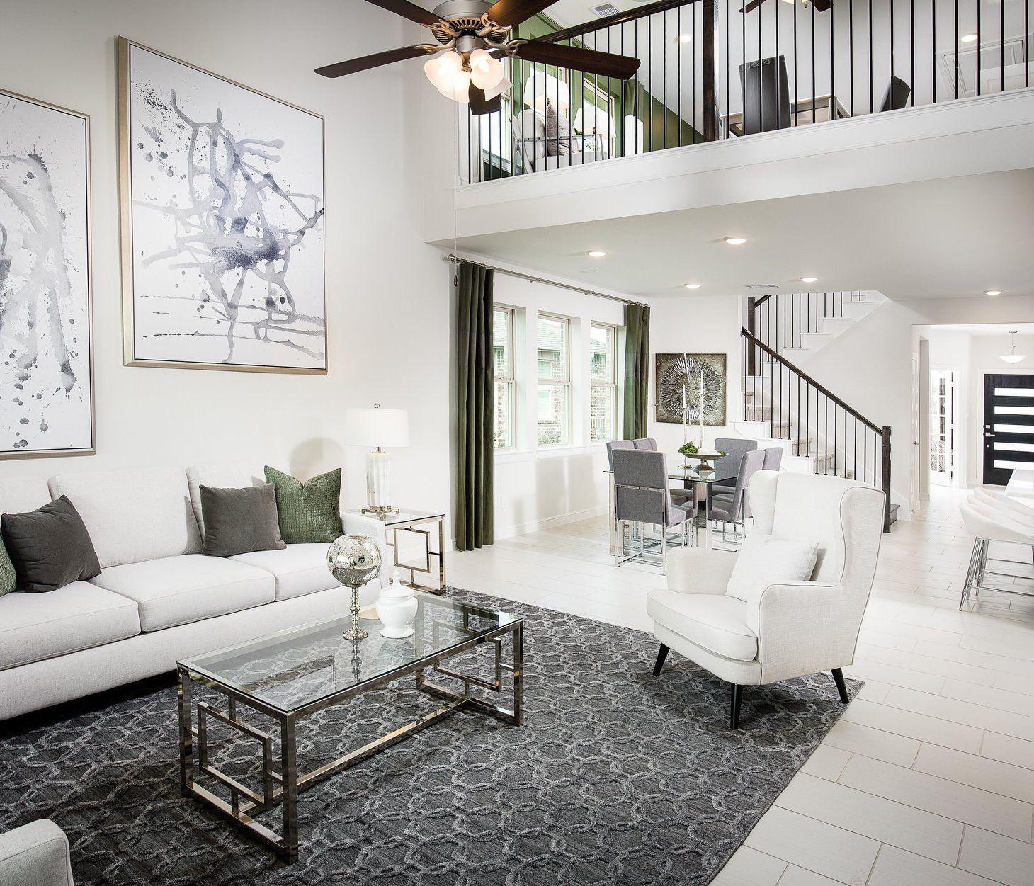 Tile Carpet Or Hardwood Floors Open Concept Living Room Home New Homes #white #flooring #for #living #room
