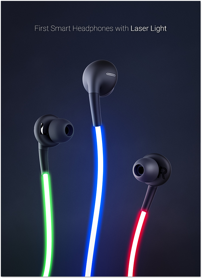 Glow: The First Smart Headphones with Laser Light by Glow, LLC ...