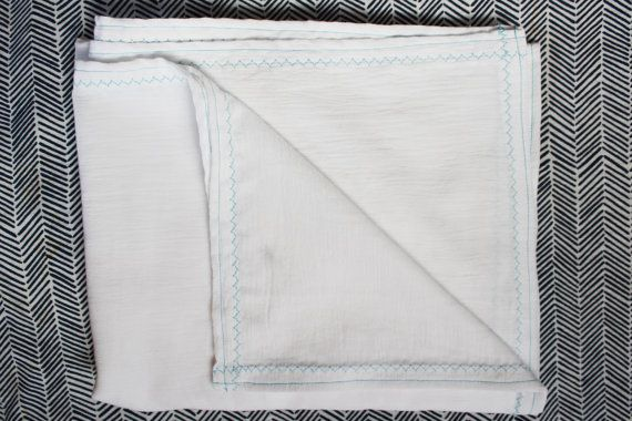 Large White Cotton Gauze Baby Receiving blanket light and airy