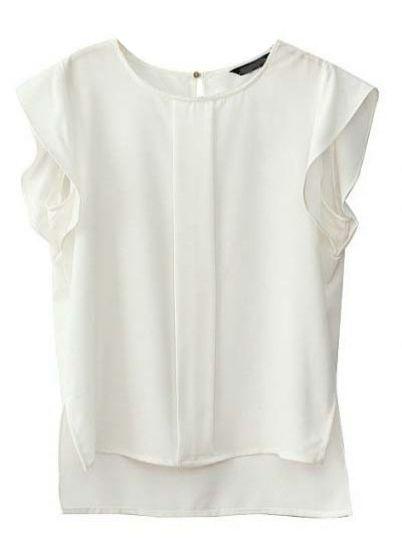 Short White Blouse
