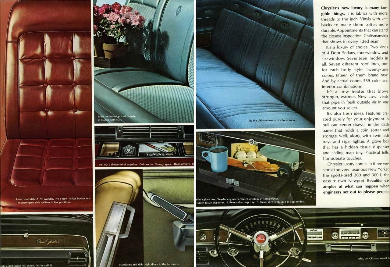 1965 Chrysler New Yorker Interior Photo Picture classic vintage ...