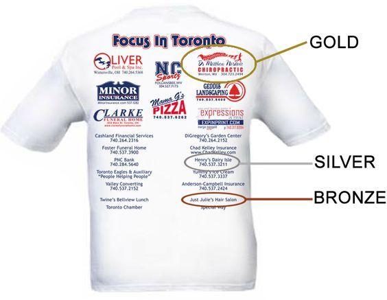 For T-Shirt Sponsorship Levels GOLD Sponsorship u2013 $175 Key - clothing sponsorship