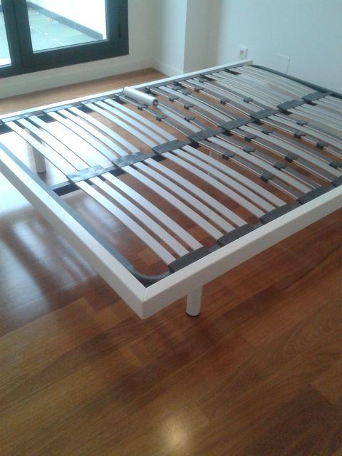Bastidor para cama a medida en madera maciza lacada   Trabajos ...