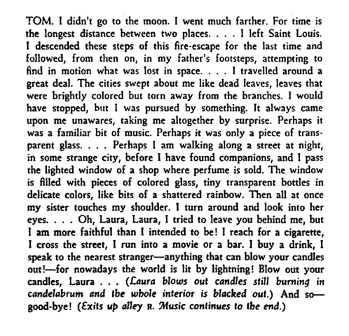 the glass menagerie tom monologue