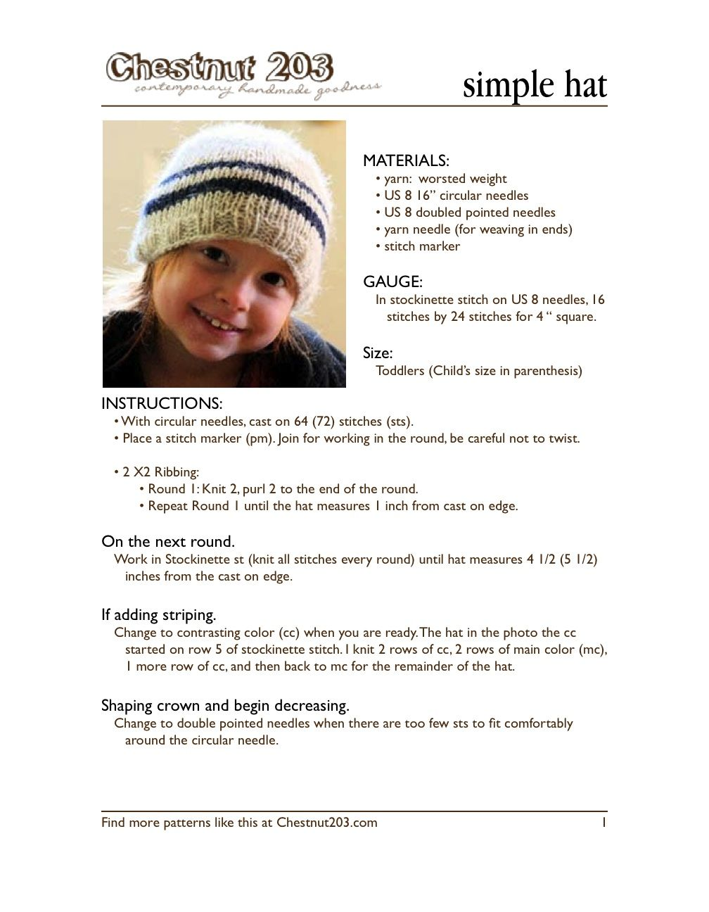 cardigans and kids: the toddler/child hat pattern. revisited.
