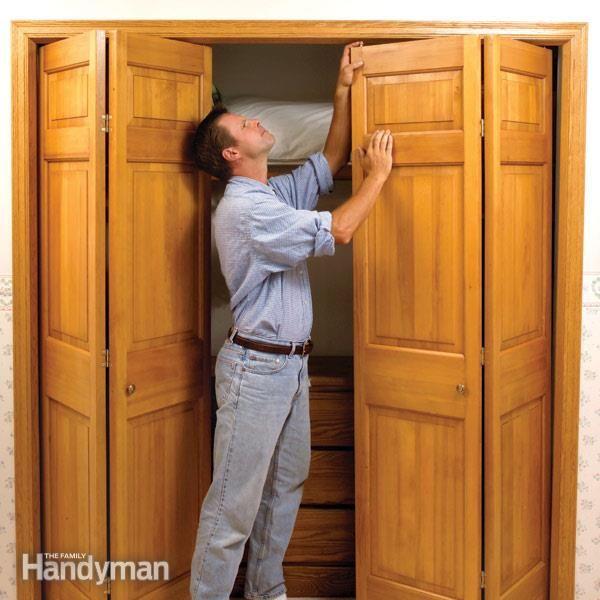 How To Fix Stubborn Bifold Closet Doors Tired Closet Doors And Doors