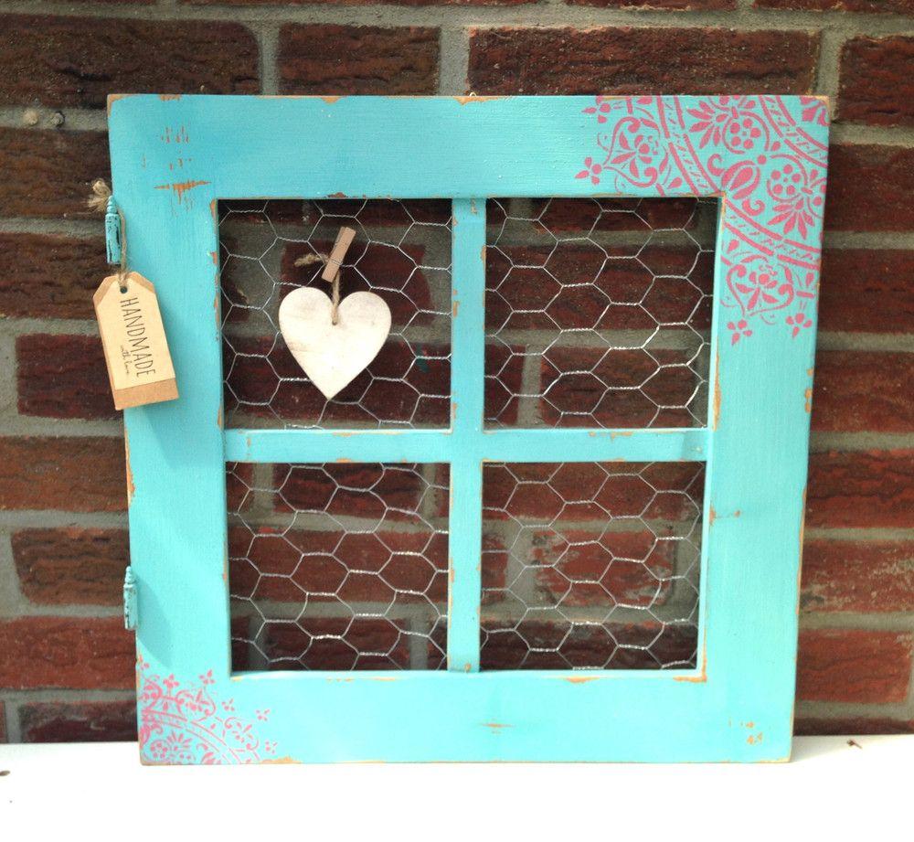 süßes Fenster Pinnwand Shabby   Shabby, Bilderrahmen vintage und Fenster
