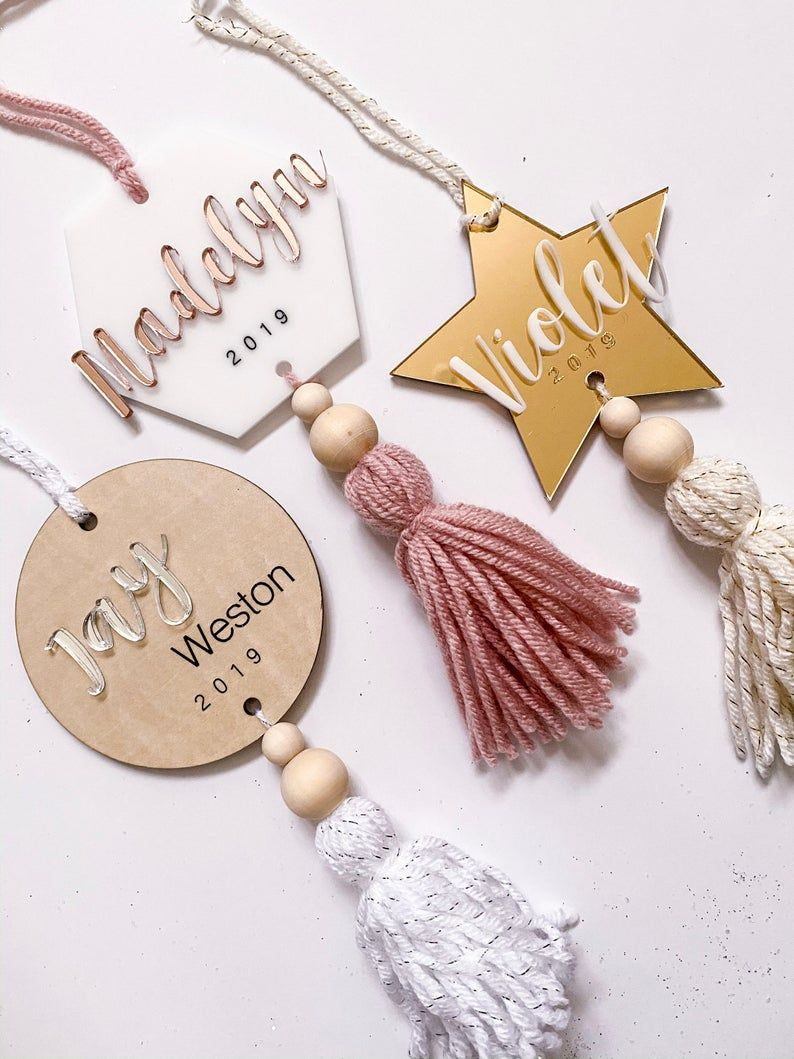Personalized Hexagon Holiday Ornament Etsy in 2020 Diy