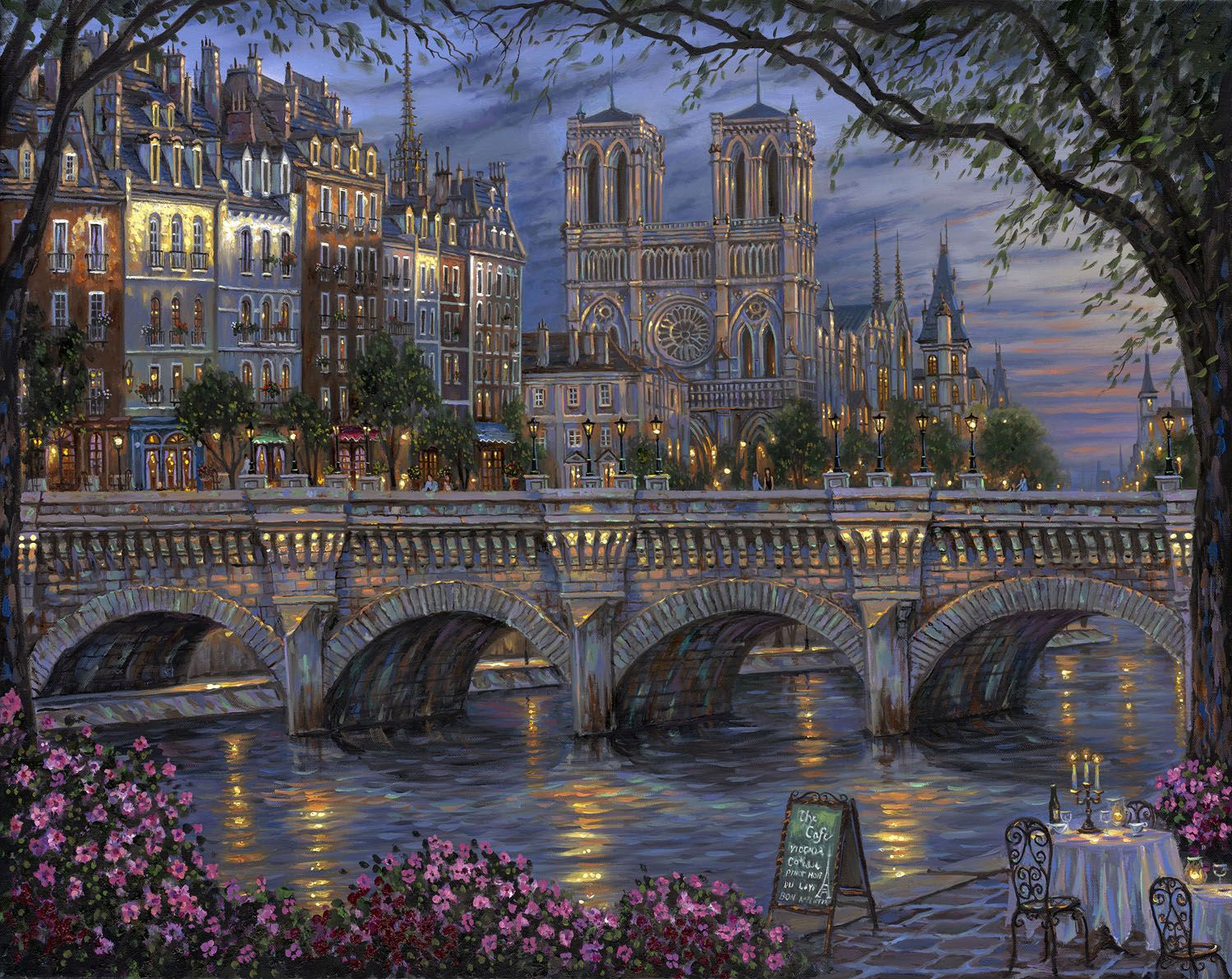 Robert Finale - Afternoon by the River Seine.