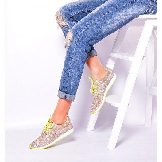 Dámska športová obuv zlatej farby - fashionday.eu