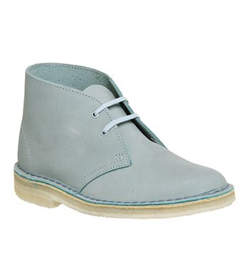 Clarks Originals Desert Boot Womens Ankle Boots Light Blue Nubuck