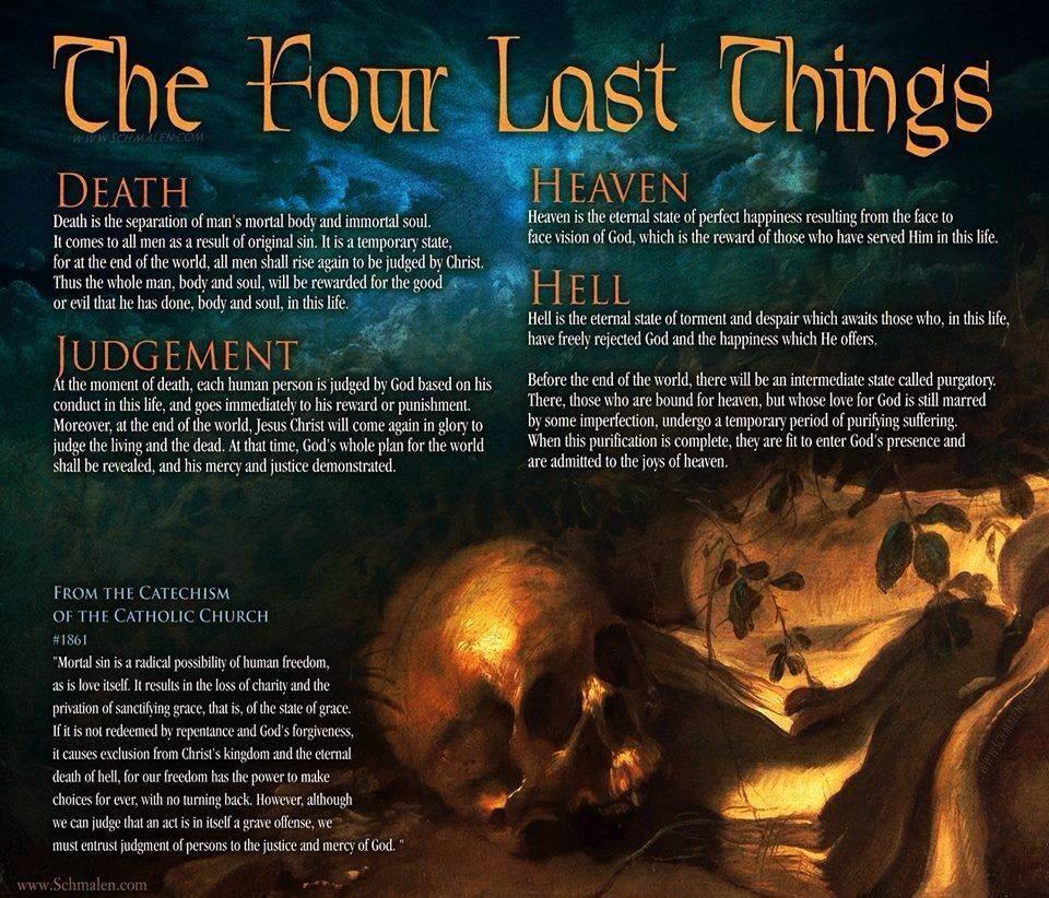 The Four Last Things God The Father Divine Revelation Catholic Doctrine