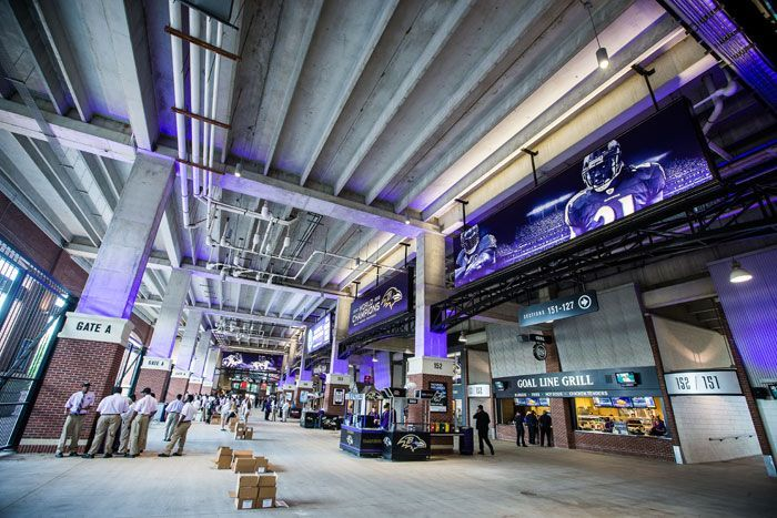 MT Bank Stadium Concourse Signage Client Sports - Us bank stadium concourse map