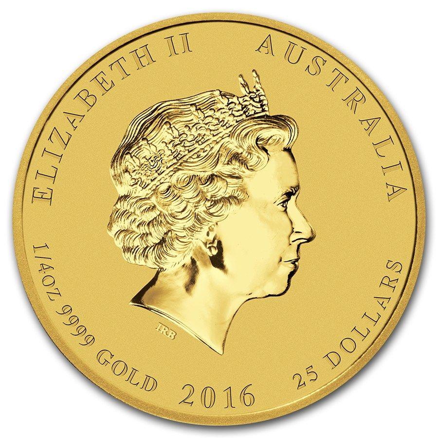 Moneda Año Lunar del Mono 2016 Oro 1/4 oz Reverse