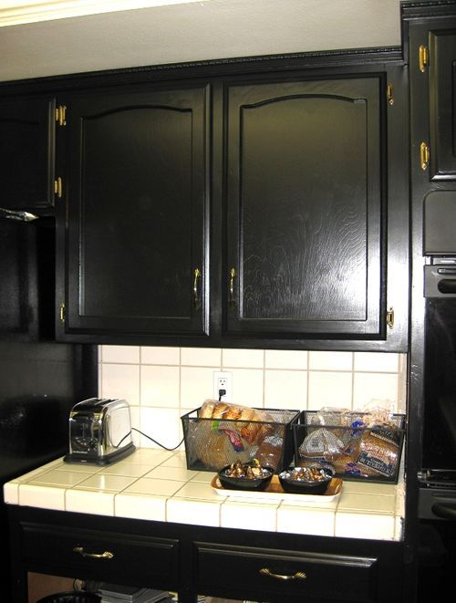 I Am Seriously Thinking Of Painting Kitchen Cabinet Doors Black Cool How To Paint Kitchen Cabinets White Inspiration