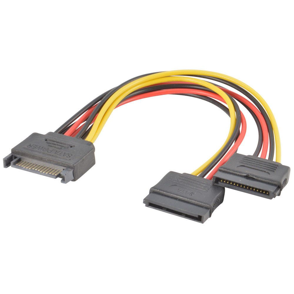 0 99 Sata Power 15 Pin Y Splitter Cable Adapter Male To Female For Hdd Hard Drive Ebay Electronics Power Cable Hdd Cable