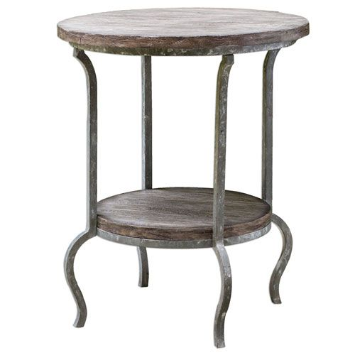 Medium image of marcin natural driftwood round accent table