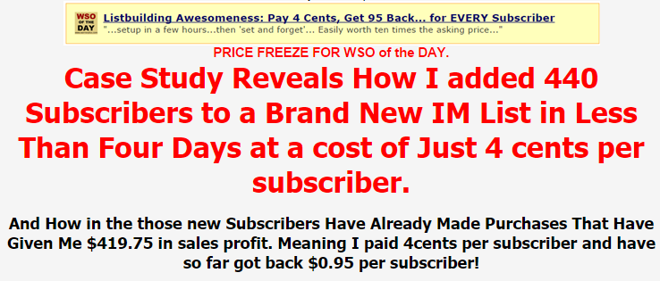 My List Building Experiment Case Study – TOP Case Study Reveals How added 440 Subscribers to a Brand New IM List in Less Than Four Days