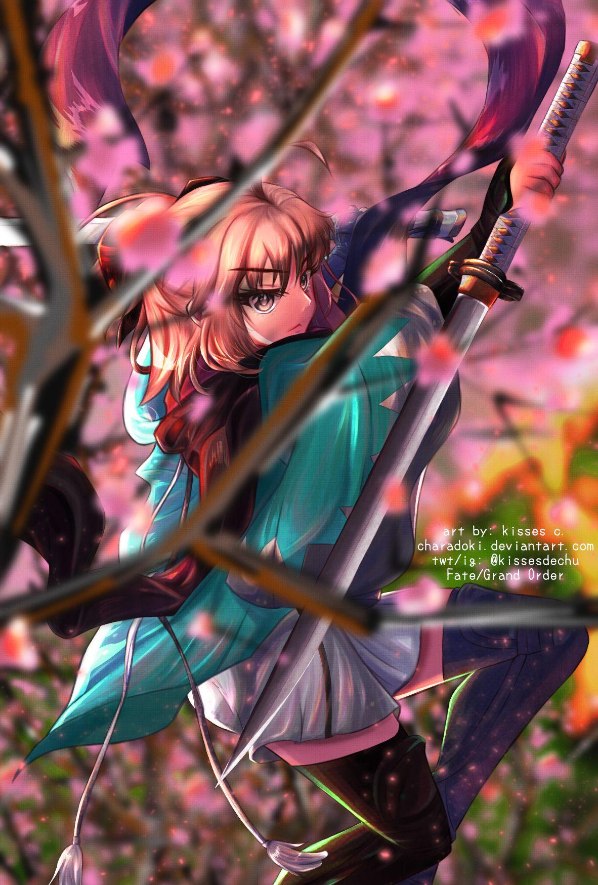 Okita Souji of Fate/Grand Order in 2020 Anime fanart