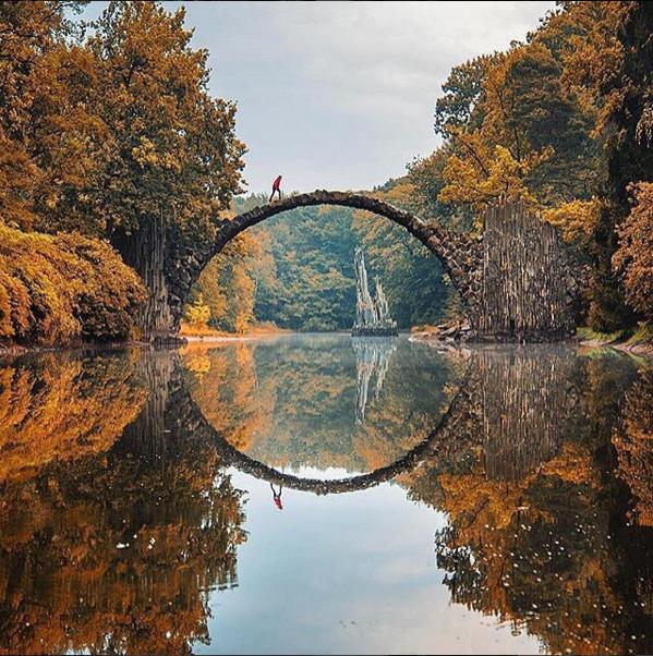 Fall in Kromlau, Germany #travel# #German#