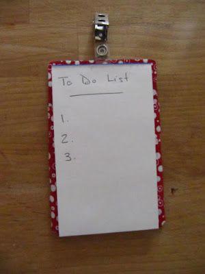 "Sew Many Ways...: Tool Time Tuesday...A ""To Do List"" To Do"