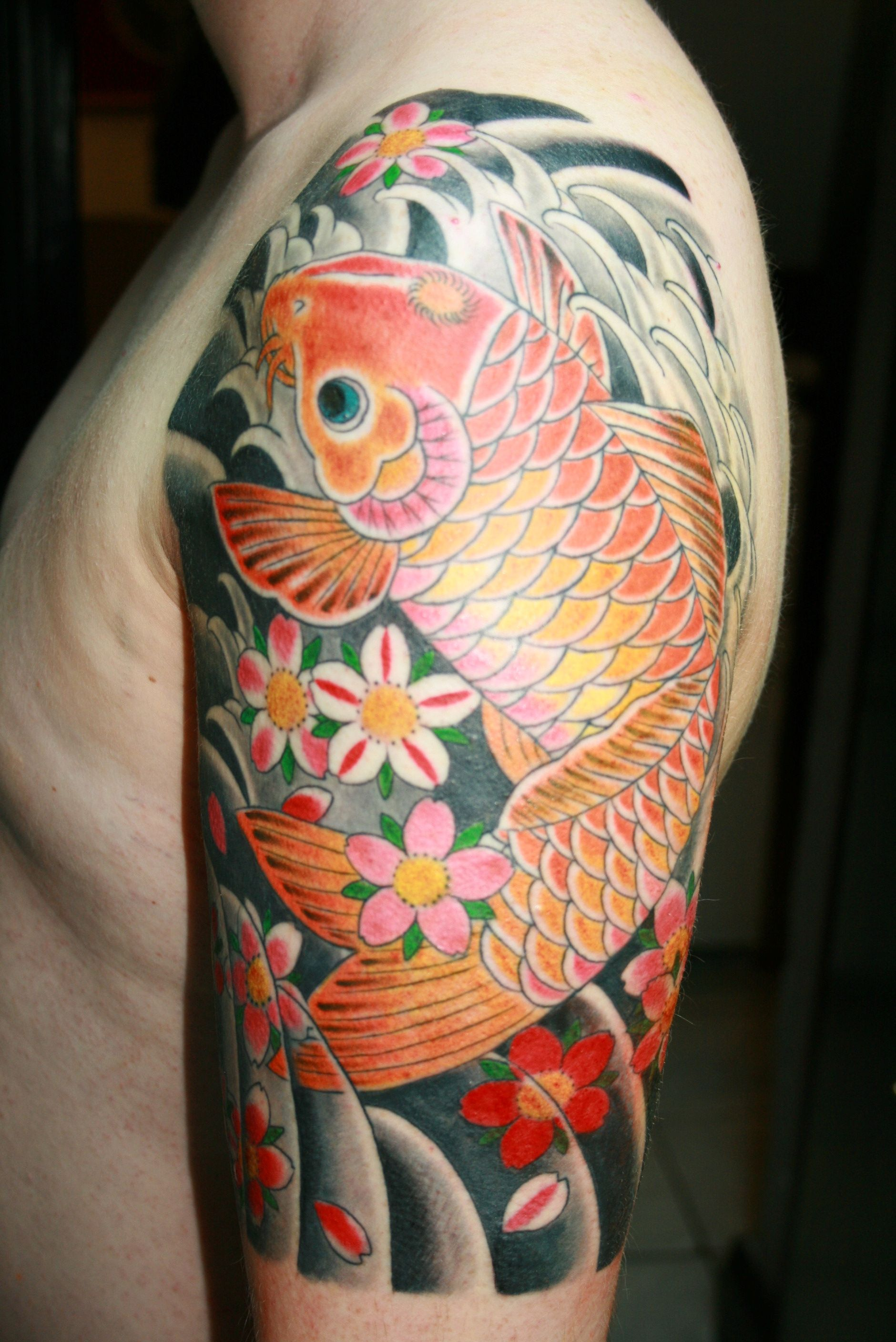 Koi Half Sleeve Tattoo Pictures Google Search Left Arm border=