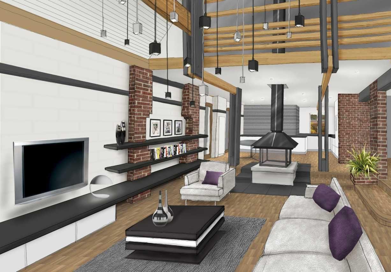 Salon Deco Bois Blanc Et Noir Chemin E Www Archi Cochez Com  # Living Salon Bois Emplacement Tv