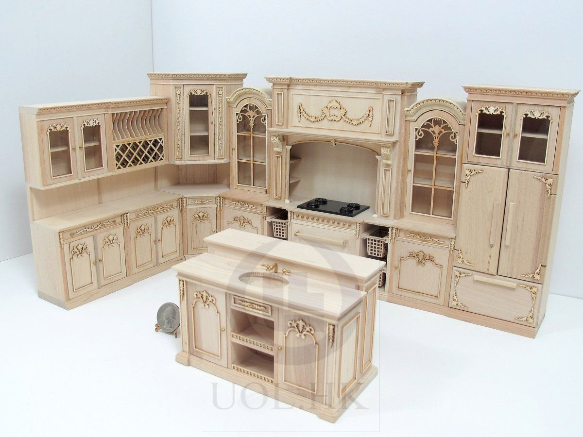 unfinished dollhouse furniture. Miniature 1:12 Scale French Provincial By UOLHKscalefurniture · HousesDoll House MiniaturesMini Unfinished Dollhouse Furniture L