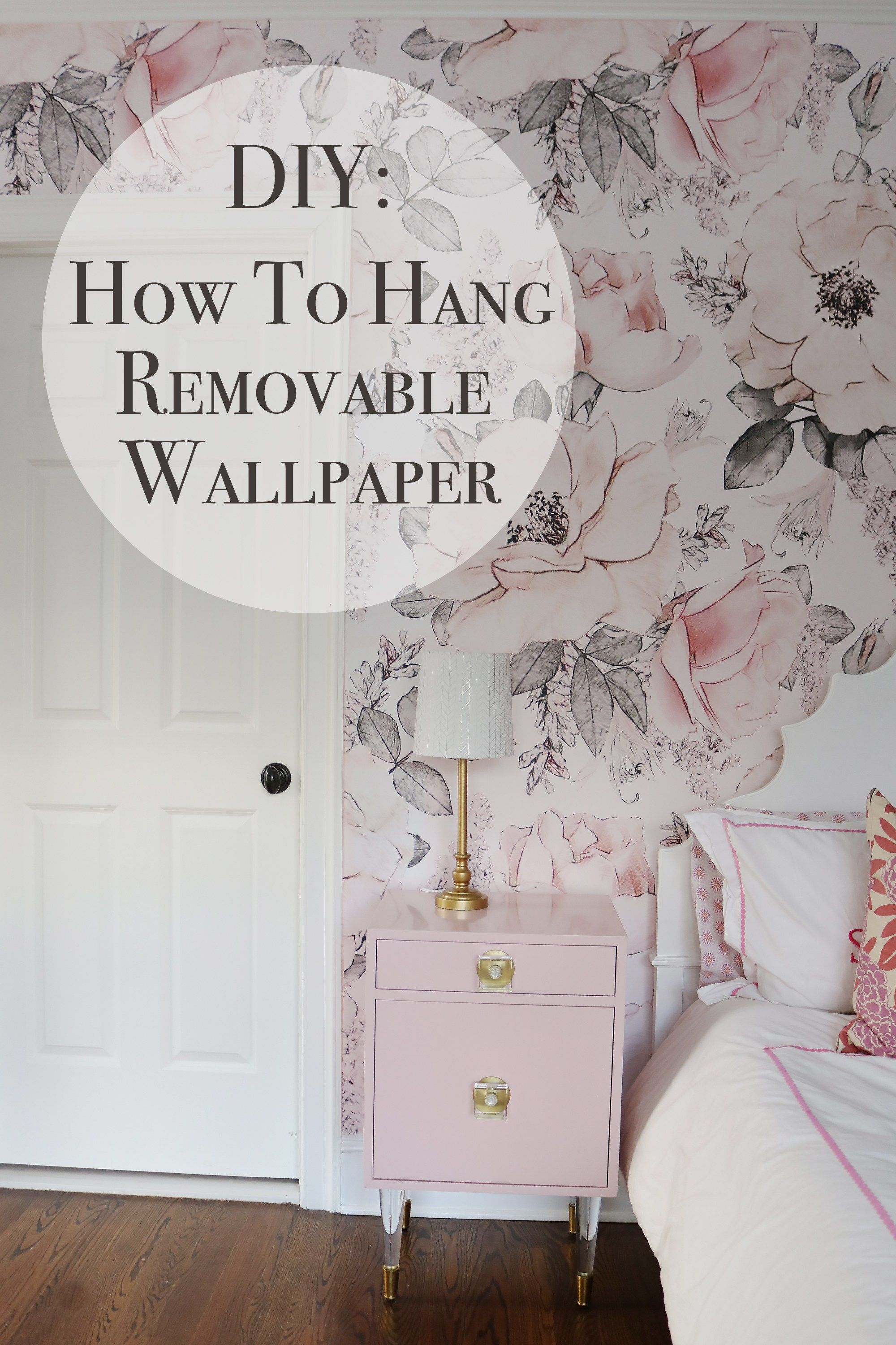 How To Hang Removable Wallpaper Darling Darleen A Lifestyle Design Blog Removable Wallpaper Diy Temporary Wallpaper Bedroom Renters Decorating
