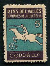 Spain 1936 Civil War Pins Del Valles 5c stamp MNH