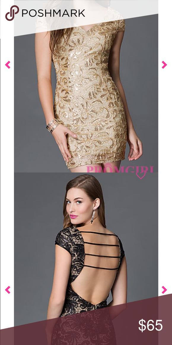 Promgirl Cap Sleeve V- Neck Open Back Dress | Prom girl ...