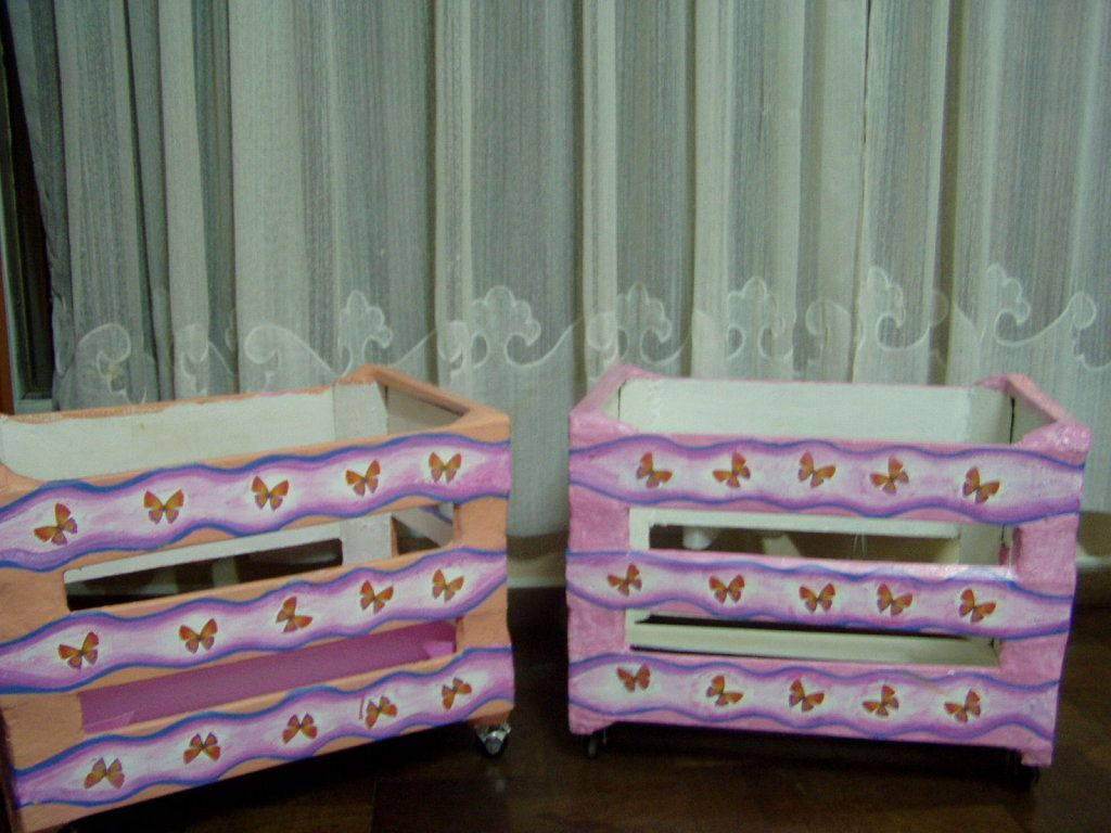 baos decorados con cajas de madera para imprimir gratis