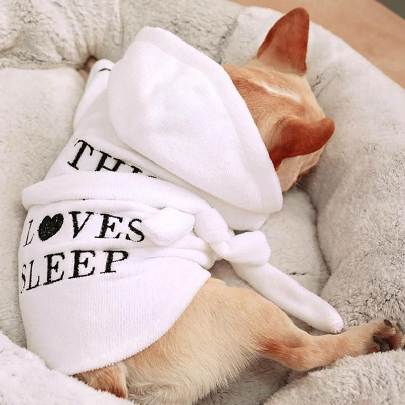 Pet Dog Pajamas Bathrobe Sleeping Clothes Indoor Soft Pet Bath Super Absorbent Drying Towel Clothes Dog Pajamas Dog Bath Pets