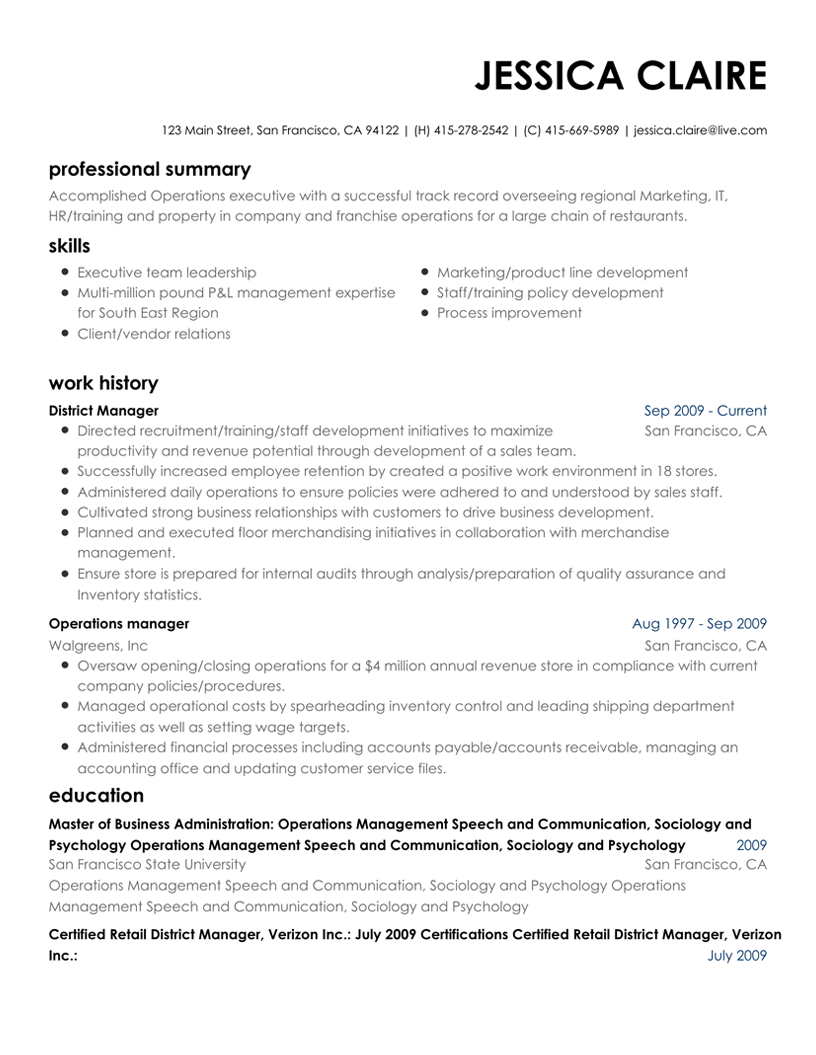 Resume Maker Write an online Resume with our Resume