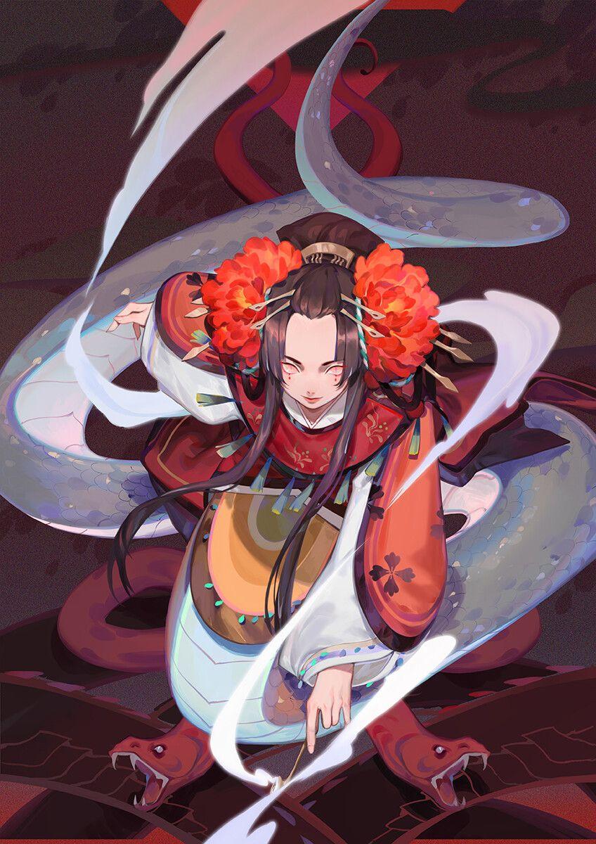 ArtStation 清姬基础卡, Wetin Lee in 2020 Anime art, Cute