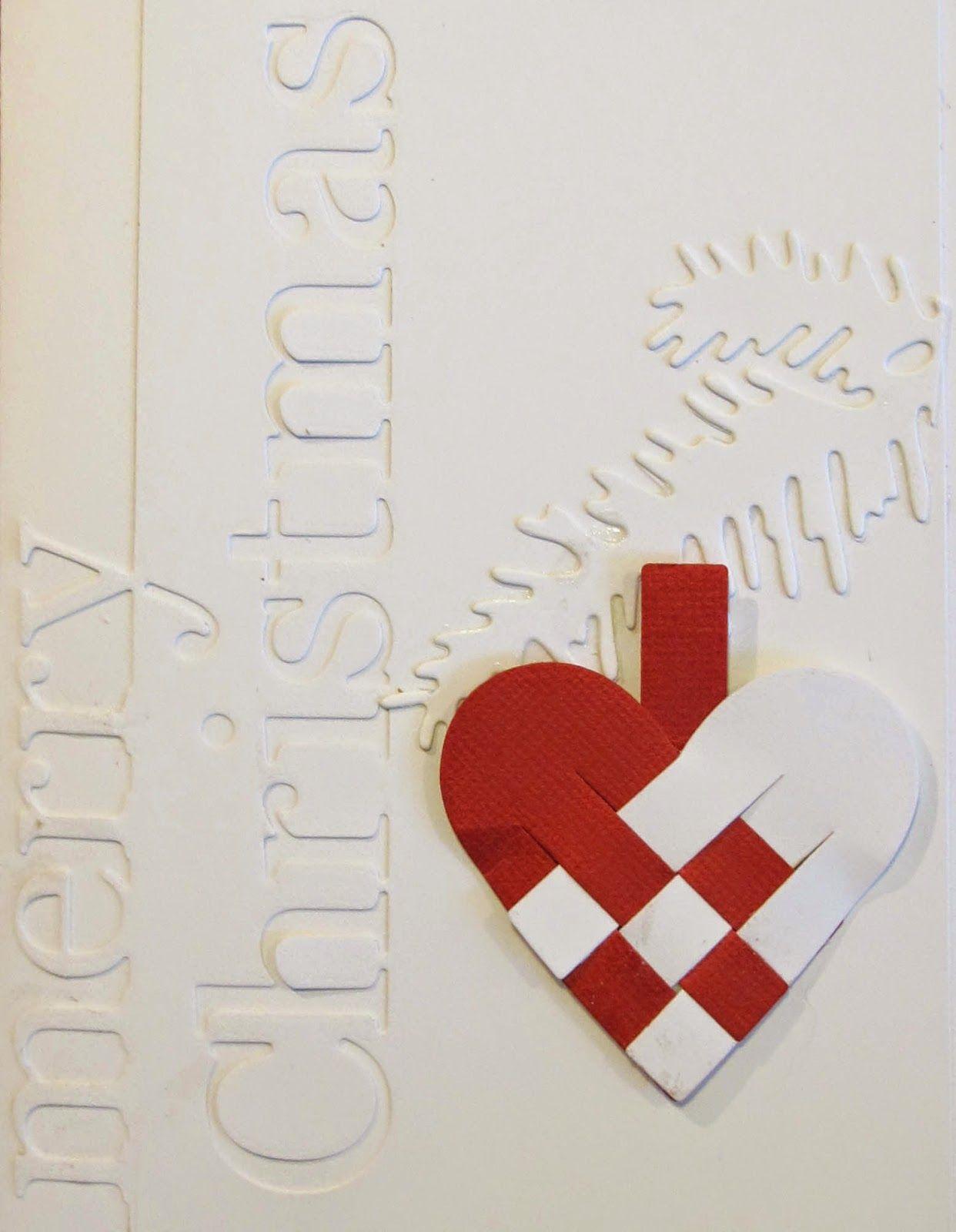 Nicolettes PapirBlog: Hvidt - hvidt - rødt