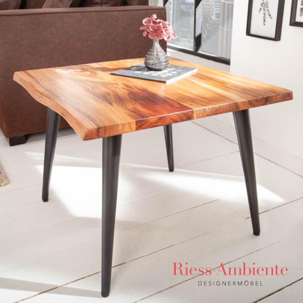 Massiver Beistelltisch 60cm Akazie Riess Ambiente De Beistelltisch Haus Deko Tisch