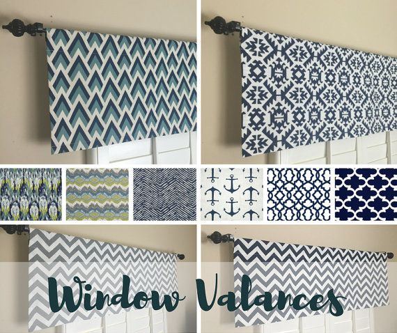 Kitchen Valance Navy Blue Valance Kitchen Window By Homemakeover Kitchen Window Valances Kitchen Window Coverings Kitchen Window Treatments