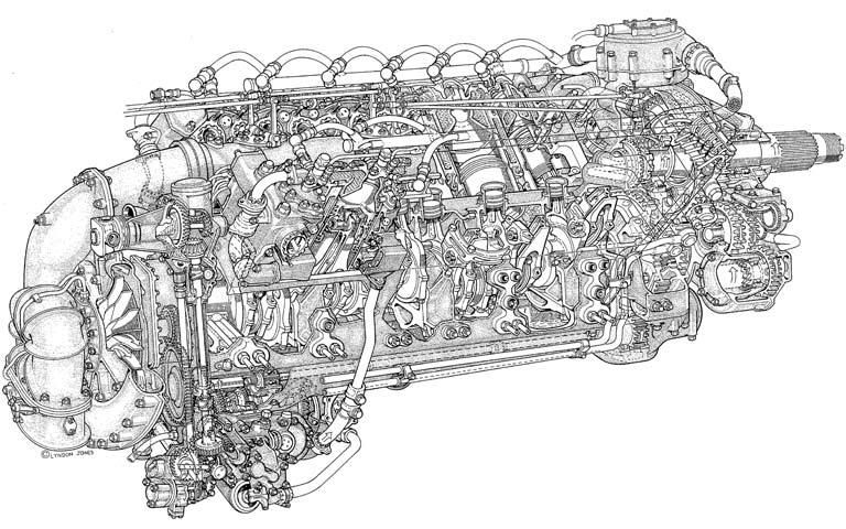 aero piston engine diagram - Google Search | Airplane ... on
