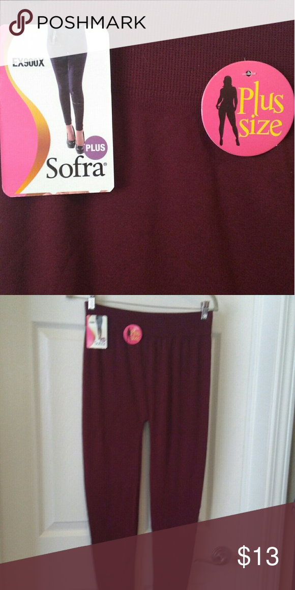 18d9c91b16298a Sofra Burgundy Stretch Pants Plus Size, New NEVER WORN 26.5