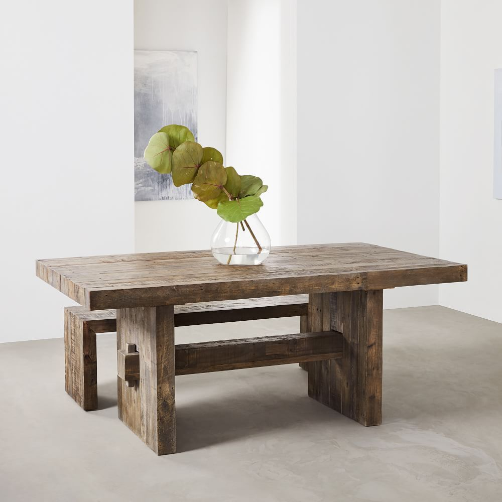 Emmerson Reclaimed Wood Dining Table Reclaimed Pine Dining