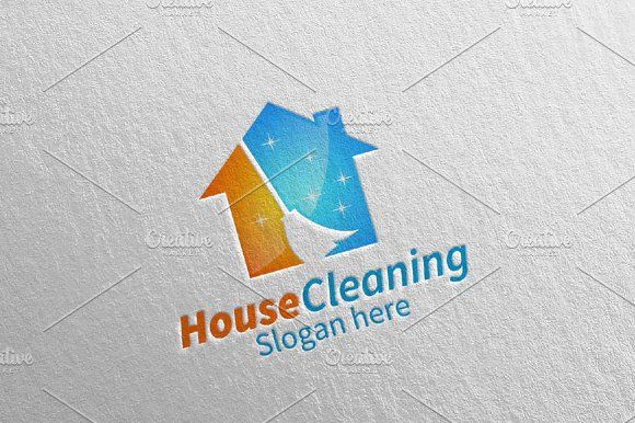 House Cleaning Services Logo Design Cleaning Service Logo Clean House House Cleaning Services