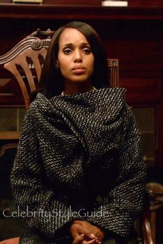 7a063dd108cc Olivia Pope Wears Her Favorite Tweed Coat On Season 5 Premiere 'Heavy Is  the Head'