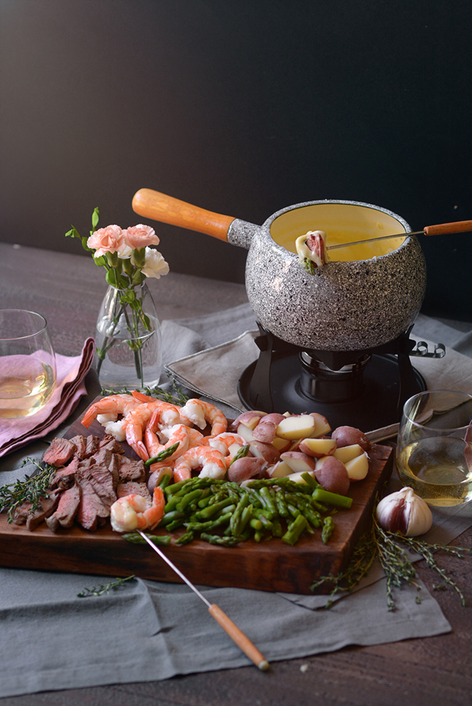 Surf and Turf Cheese Fondue