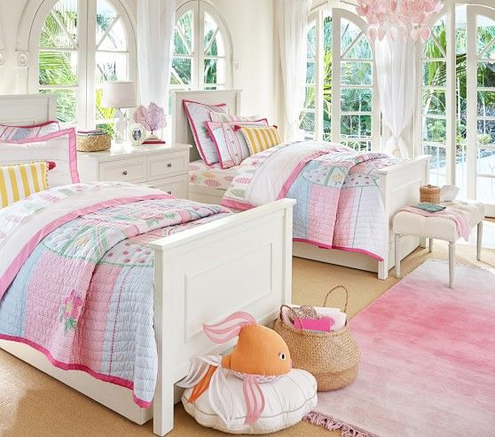 Pacific Surf Quilted Bedding Pottery Barn Kids Demis Room