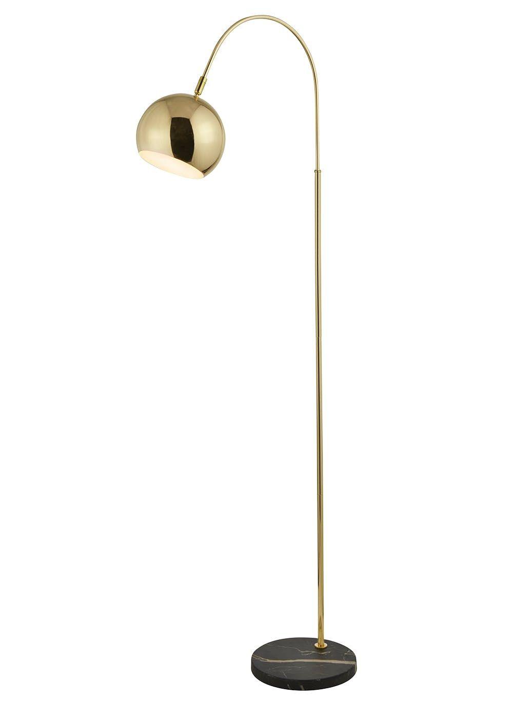 Alana marble base floor lamp h140cm x w24cm gold in