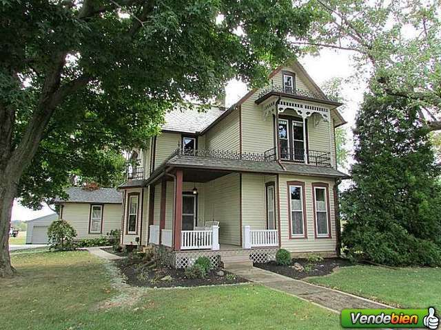 VICTORIAN EASTLAKE STYLE TWO STORY ON 1.67 ACRES.  SPACIOUS FOUR POSSIBLE FIVE BEDROOM HOME WITH TWO FULL BATHS.  20X24 DETACHED GARAGE PLUS A 20X30 BUILDING US