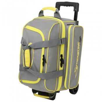 Storm Streamline 2 Ball Roller Grey Yellow Bowling Bag Bowling Bags Bags Bowling Shoes